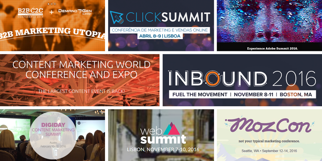 Os grandes eventos de content marketing de 2016
