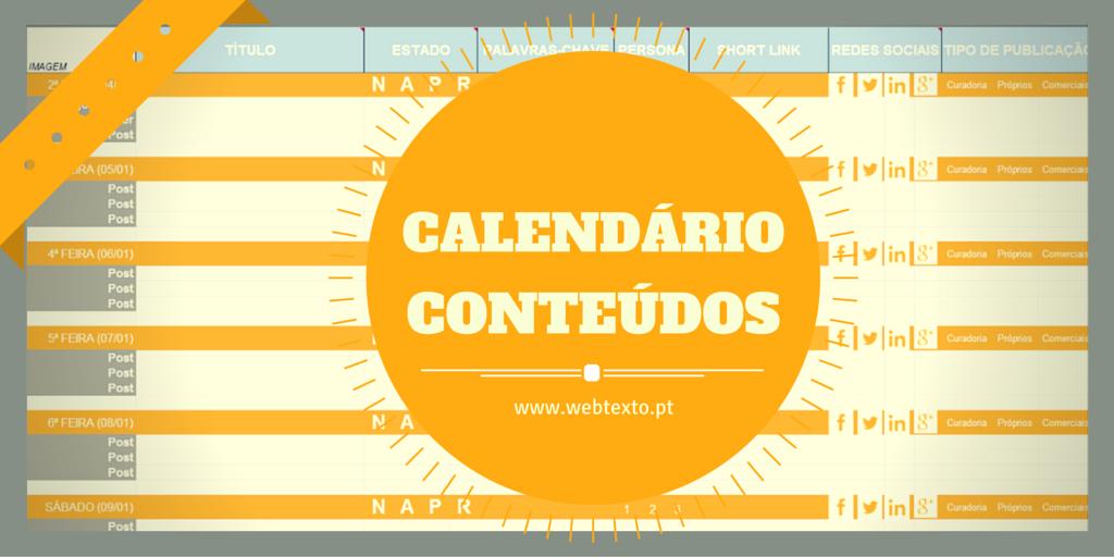 Como criar um calendário de conteúdos