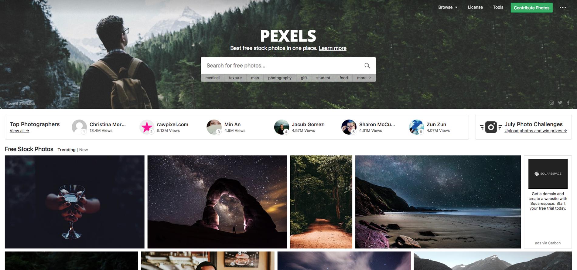 pexels, bancos de imagens, melhores bancos de imagens, imagens