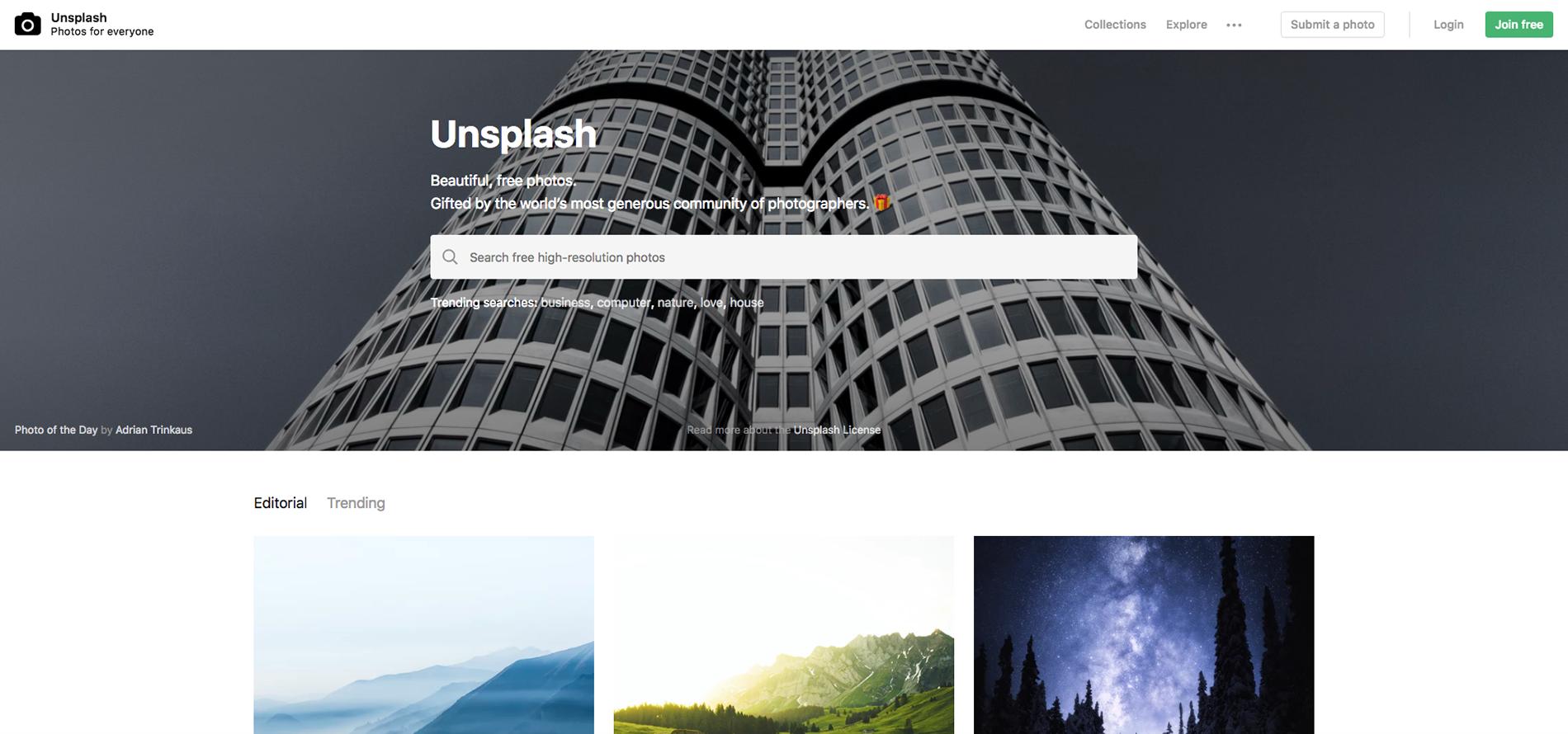unsplash, bancos de imagens, melhores bancos de imagens, imagens