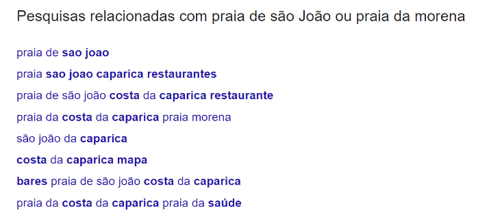 Pesquisas relacionadas com praia de São João ou praia Morena