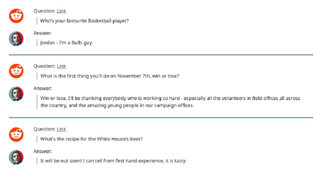 Perguntas a Barack Obama no reddit, Marketing Político