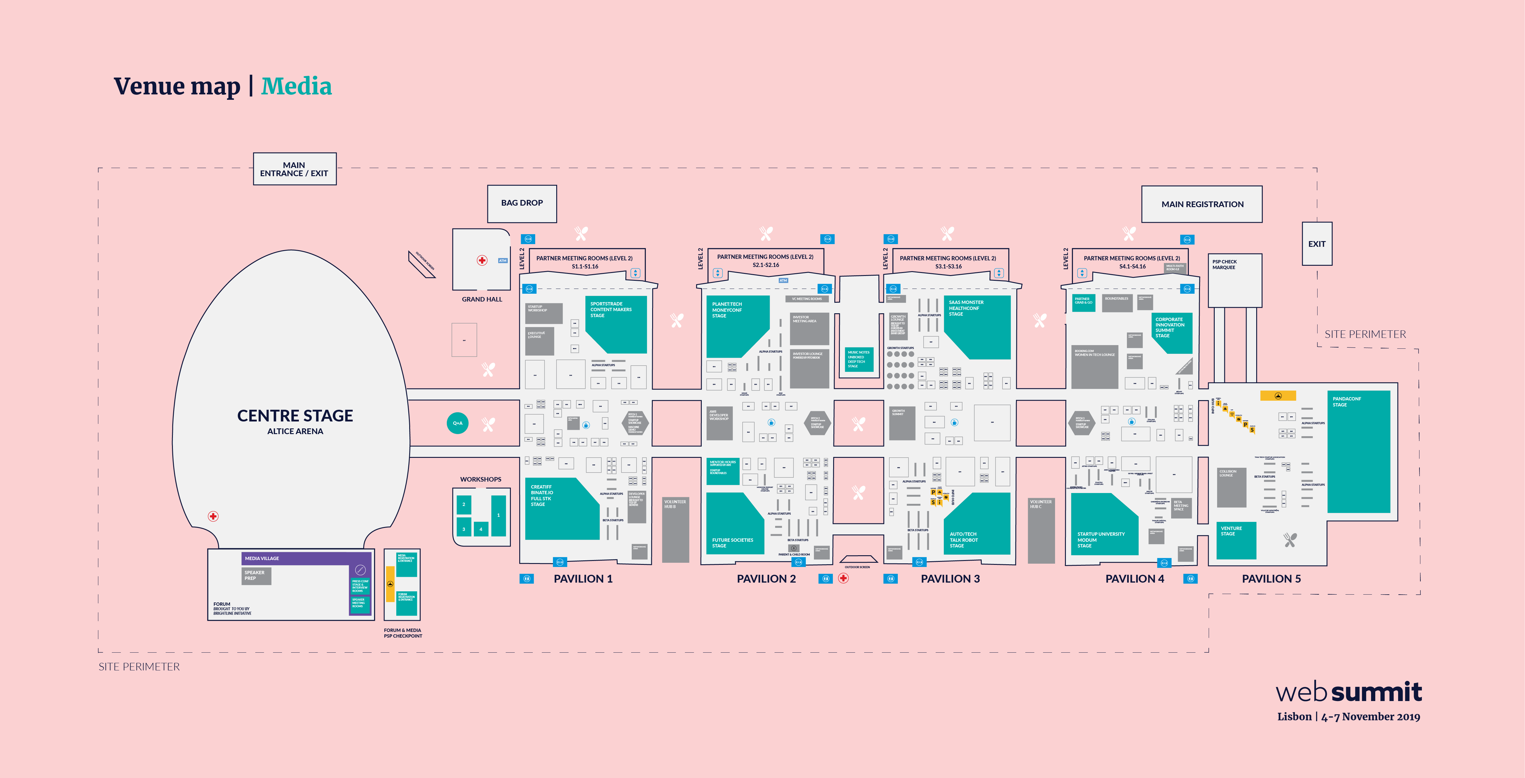 Mapa Web Summit 2019