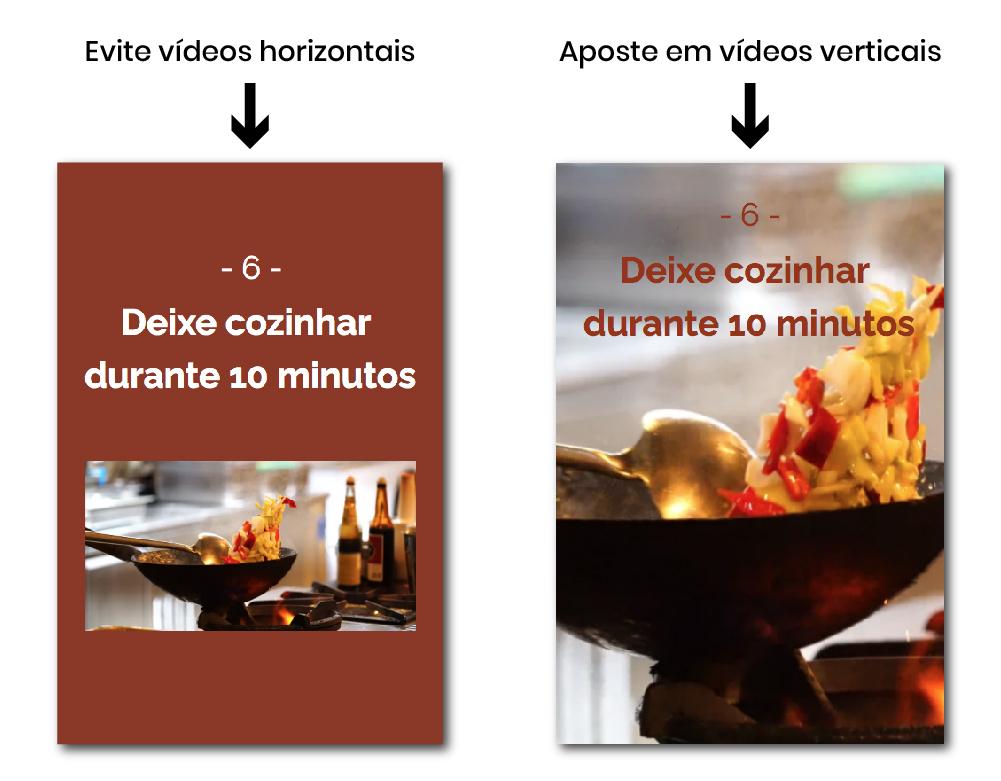 Vídeo vertical numa Google Web Story